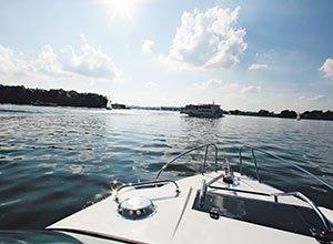 Boot auf dem Chiemsee